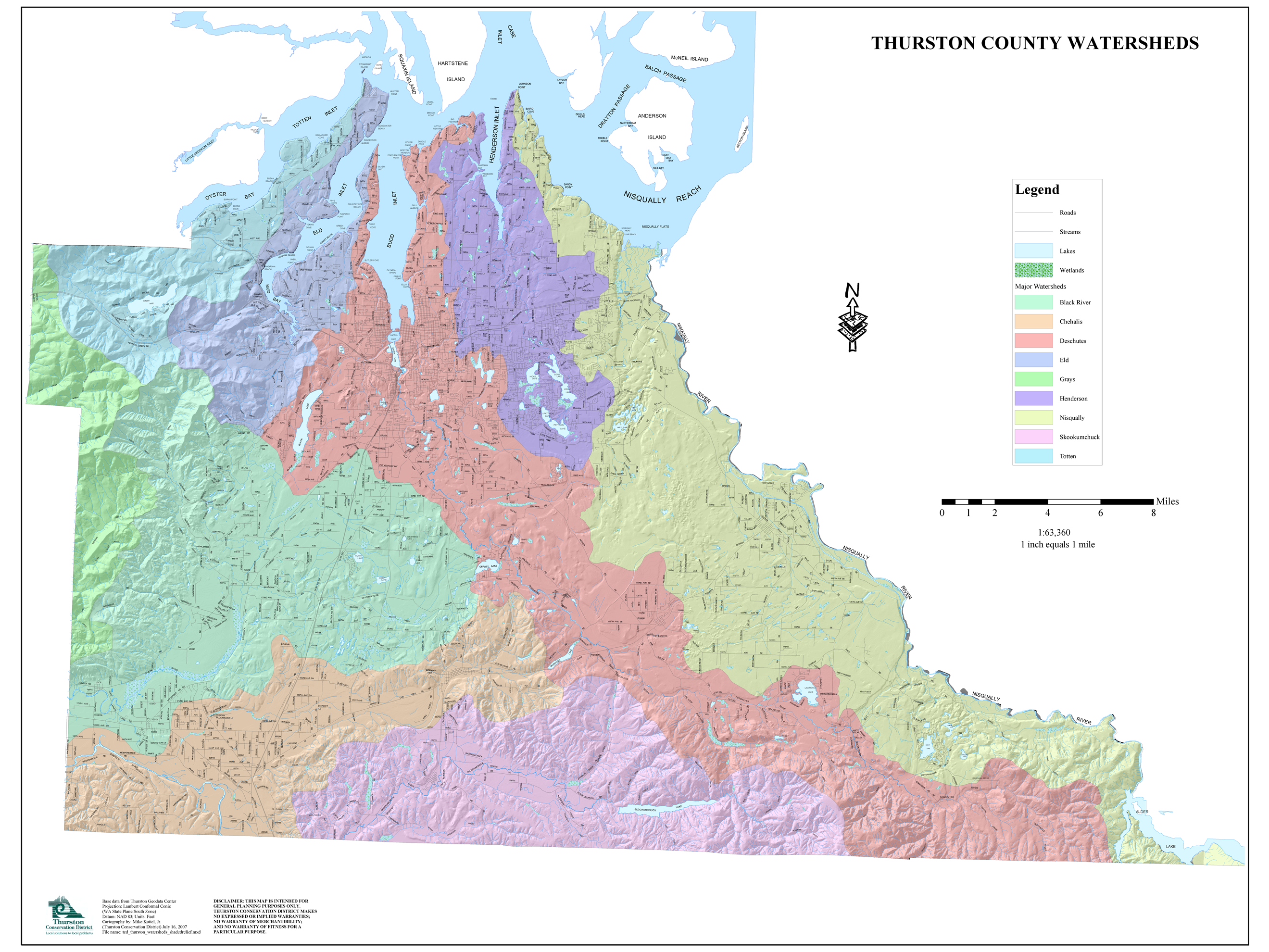 thurston-county-watershed-map